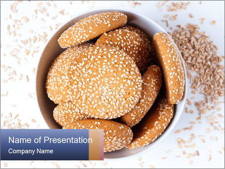 Bowl of cookies PowerPoint Template