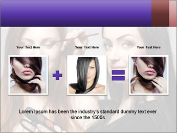 Beautiful young woman PowerPoint Template - Slide 22