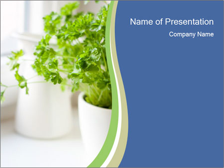 Green parsley PowerPoint Templates