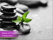Zen basalt stones PowerPoint Templates
