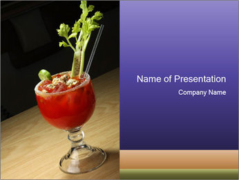 Cocktail drink PowerPoint Templates - Slide 1