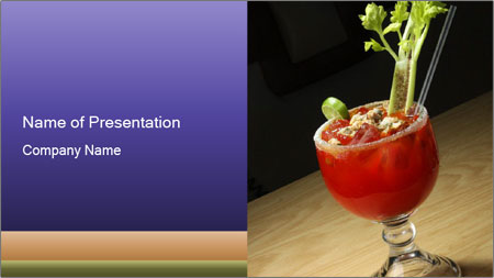 Cocktail drink PowerPoint Template