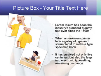 Little boy holding a dollars PowerPoint Templates - Slide 17