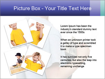 Little boy holding a dollars PowerPoint Templates - Slide 23