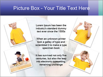 Little boy holding a dollars PowerPoint Templates - Slide 24