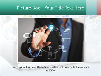 Laptop and business person PowerPoint Templates - Slide 15