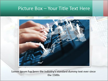 Laptop and business person PowerPoint Templates - Slide 16