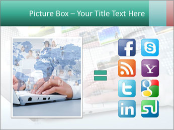 Laptop and business person PowerPoint Templates - Slide 21