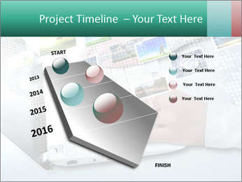 Laptop and business person PowerPoint Templates - Slide 26