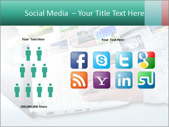 Laptop and business person PowerPoint Templates - Slide 5