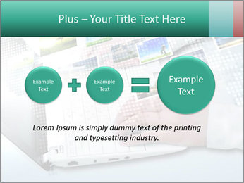 Laptop and business person PowerPoint Templates - Slide 75