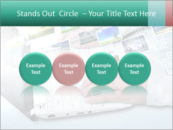 Laptop and business person PowerPoint Templates - Slide 76