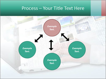Laptop and business person PowerPoint Templates - Slide 91