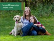Family with labrador PowerPoint Templates