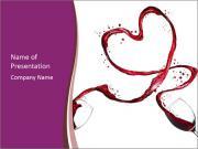 Wine heart PowerPoint Templates