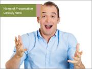 Surprised man PowerPoint Templates