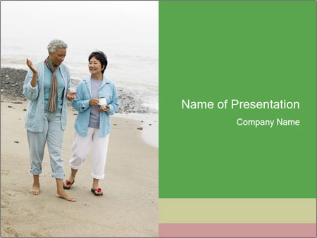 Two middle-aged women PowerPoint Templates