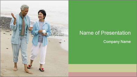 Two middle-aged women PowerPoint Template