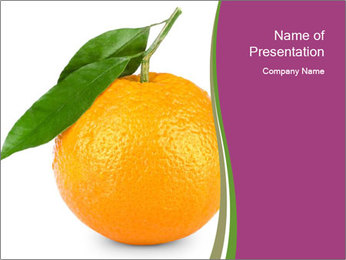 Ripe orange PowerPoint Template - Slide 1
