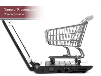 Shopping cart PowerPoint Template