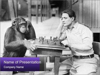 Man playing chess PowerPoint Template