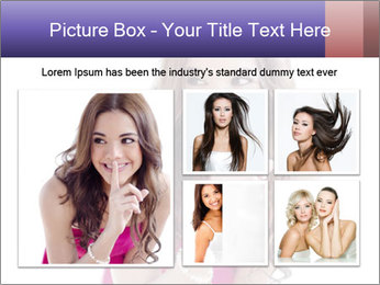 Cute young brunette PowerPoint Template - Slide 19