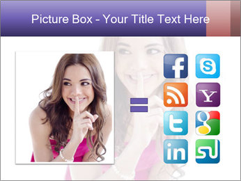 Cute young brunette PowerPoint Template - Slide 21
