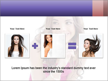 Cute young brunette PowerPoint Template - Slide 22