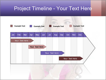 Cute young brunette PowerPoint Template - Slide 25