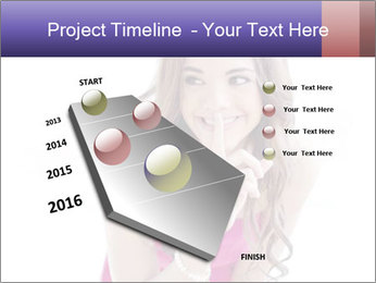Cute young brunette PowerPoint Template - Slide 26