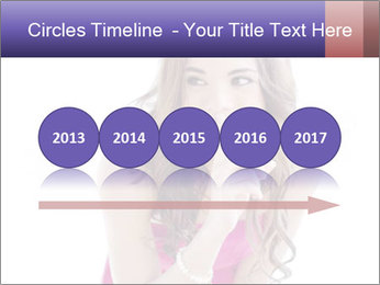 Cute young brunette PowerPoint Template - Slide 29
