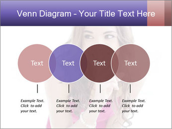 Cute young brunette PowerPoint Template - Slide 32