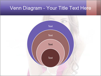 Cute young brunette PowerPoint Template - Slide 34