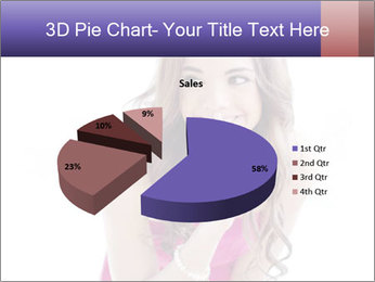Cute young brunette PowerPoint Template - Slide 35