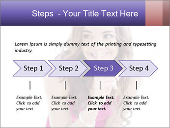 Cute young brunette PowerPoint Template - Slide 4