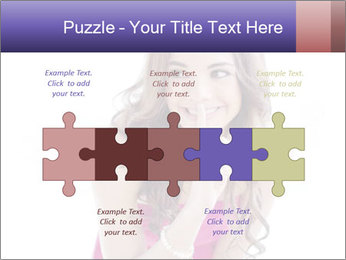 Cute young brunette PowerPoint Templates - Slide 41