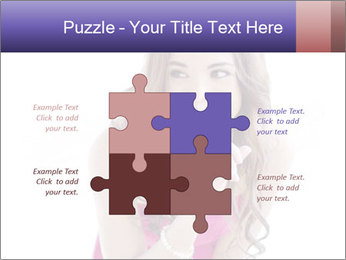 Cute young brunette PowerPoint Templates - Slide 43