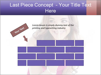 Cute young brunette PowerPoint Template - Slide 46