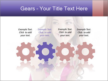 Cute young brunette PowerPoint Template - Slide 48