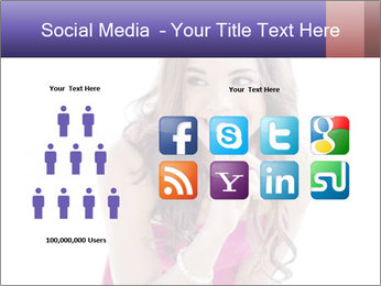 Cute young brunette PowerPoint Template - Slide 5