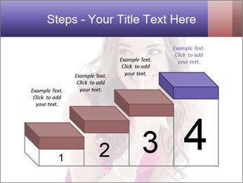 Cute young brunette PowerPoint Template - Slide 64