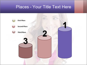 Cute young brunette PowerPoint Template - Slide 65