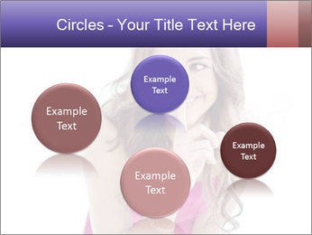 Cute young brunette PowerPoint Templates - Slide 77