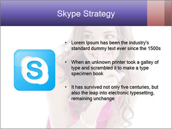 Cute young brunette PowerPoint Template - Slide 8