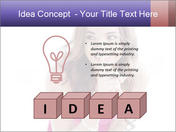 Cute young brunette PowerPoint Template - Slide 80