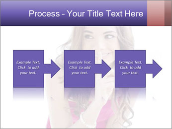Cute young brunette PowerPoint Template - Slide 88