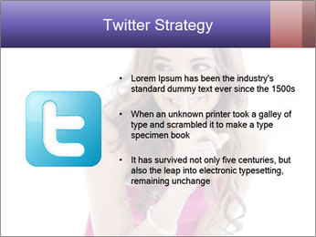 Cute young brunette PowerPoint Template - Slide 9