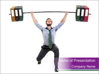 Muscular businessman PowerPoint Template - Slide 1