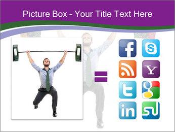 Muscular businessman PowerPoint Template - Slide 21