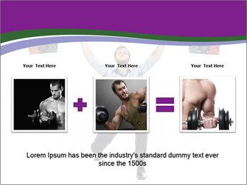 Muscular businessman PowerPoint Template - Slide 22